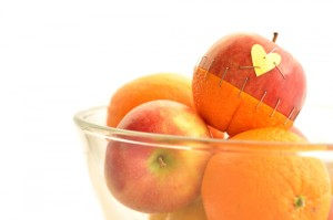 fruit with heart